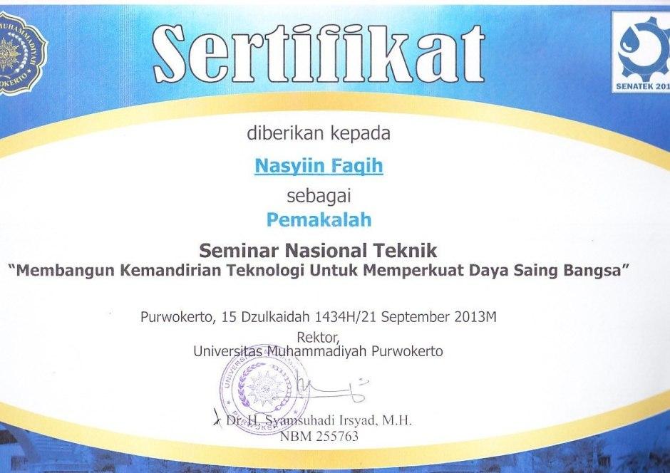 Sertifikat Senatek Sept 2014